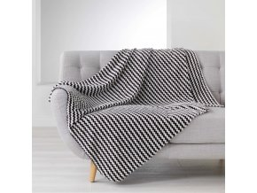 potah na pohovku DENVER 125 x 150 cm, černé pruhy