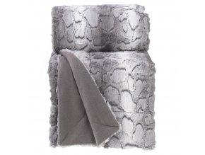 SIBERIE přehoz na postel, 180 x 220 cm, šedá