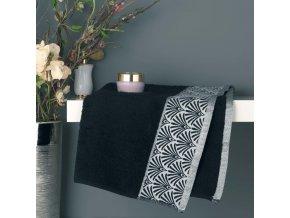 Černý ručník z bavlny GOLDY, 50x90 cm