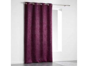 VELVET fialová zatemňovací závěs, 140 x 240 cm