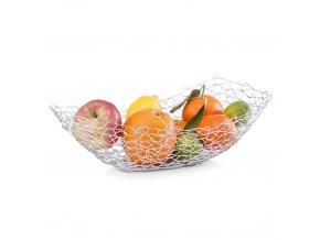 Oválný koš na ovoce, chromovaná ocel, ZELLER