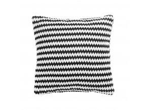 Černobílý povlak na polštář v pruhy DENVER, 40x40 cm