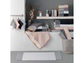 Koupelnový bílý rohož z bavlny GOLDY, 85x50 cm