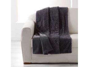LUXOR přehoz na postel, 180 x 220 cm, tmavá šedá