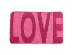 Koupelnový kobereček LOVE SWEET PINK, 80 x 50 cm, WENKO