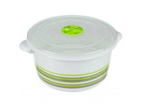 3 L mikrovlnná trouba nádoba na potraviny, kulatá, zelená