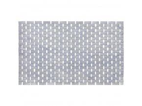Podložka bambusová  BAMBOO, koupelnový kobereček, šedá barva, WENKO