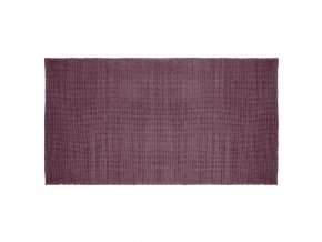 Bavlněný koberec STONE, 70 x 140 cm, fialová