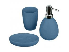 Keramické koupelnové doplňky v modré barvě MARINE, 26x6x26 cm