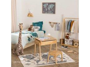 Nástěnná světová mapa pro děti z plastu, 70x50 cm