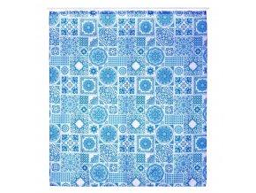 Sprchový závěs z polyesteru s mozaikovým motivem ZULA, 180x200 cm