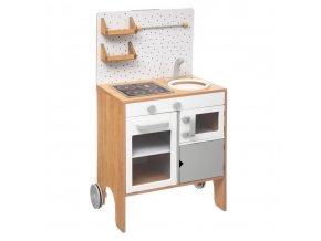 Kuchyňka pro děti dřevěná, 51x34x91 cm, hračka