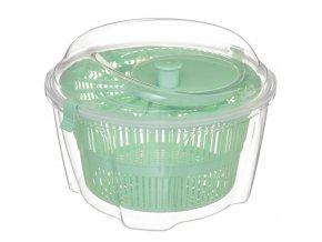 Salátová odstředivka 4.4 L, plastová, zelená