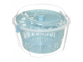 Salátová odstředivka 4,4 L, plastová, modrá