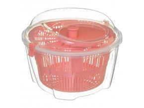 Salátová odstředivka 4,4 L, plastová, růžová
