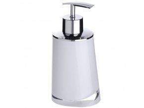 Bílý dávkovač na mýdlo z akrylu PARADISE, 200 ml, 16x8x7 cm, WENKO
