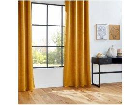 Zatemňovací opona GAUFRE 140 x 260 cm žlutá