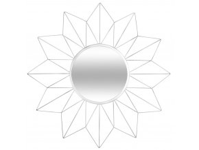 Zrcadlo SUN s dekorativním rámem, Ø 60 cm, bílé