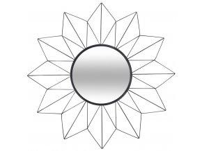 Zrcadlo SUN s dekorativním rámem, Ø 60 cm, černé