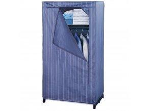 Šatník textilní,  skládací šatní skříň, 160x75x50cm, WENKO