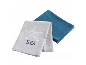 Kuchyňský ručník SEA 50 x 70 cm, 2 barvy včetně