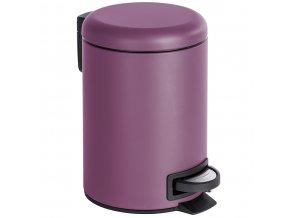Elegantní koš na odpadky LEMAN MATT, fialová barva, 3 l, WENKO