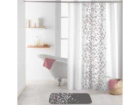 Sprchový závěs EFFERVEScence, 180 x 200 cm, bílá s tečkami