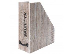 Organizátor dokumentů, časopisy, katalogy - dřevěný kontejner