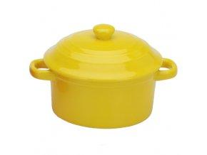 Keramický hrnec s poklicí, ohnivzdorné nádobí, 280 ml