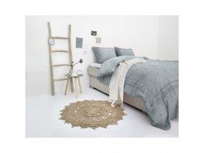 Ložní prádlo RL 12 šedá, 200 x 220 cm, FANCY Výšivka