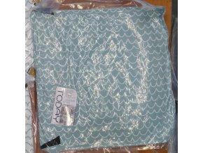 Dětský modrý bavlněný polštář Forest, 40x40 cm