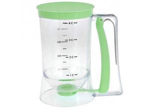 Zelená nádoba s dávkovačem RETRO DESIGN, 900 ml