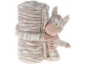 Maskot s dekou pro dítě - 75 x 100 cm, zebra