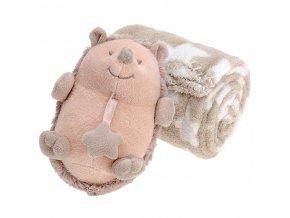Maskot s dekou pro dítě - 75 x 100 cm, ježek Emako