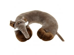Měkký cestovní polštář pod hlavu pro dítě - půlměsíc s motivem zvířátka Emako
