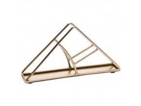Kovový držák na ubrousky, 16 x 8 cm, trojúhelník