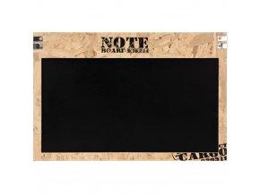 Dřevěná poznámková tabule, černá, 60x40 cm
