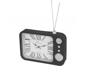 Kovové hodiny ANTIQUE RADIO, stolní