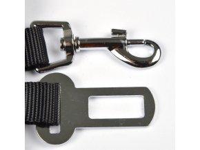 Bezpečnostní pás pro psy, nastavitelný, 30-50 cm, černý