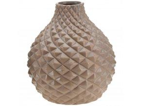 Keramická váza na květy, dekorace - kulatý Ø 21 cm Emako
