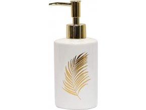Dávkovač tekutého mýdla ORBELLA, keramika, barva bílé zlato