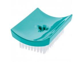 Mýdelník DAILY SOAP s kartáčkem na nehty - barva tyrkysová, KOZIOL