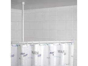 Držák pro zavěšení tyče na sprchový závěs, Ø 2,5 cm, 57 cm, chrom, WENKO