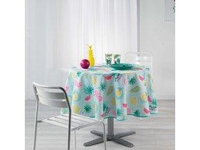 Kulatý ubrus na stůl HAPPY SUMMER,  Ø 180 cm, barva máty
