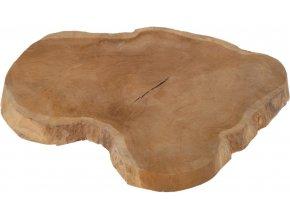 Podnos na teakový stůl, průměr 35 cm, stojan na hrnce