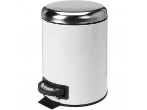 Kovový koš na odpadky, nerezová ocel, 5 l
