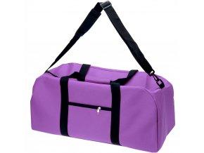 Sportovní cestovní fialová taška, 48 l, polyester