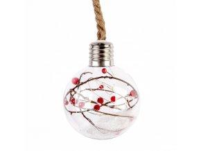 Vánoční koule, sklo na provázku, Ø 60 cm
