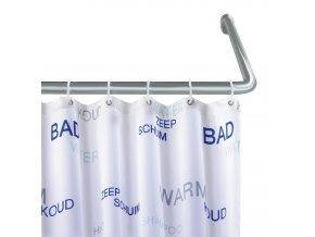Úhlový držák nastavitelný pro sprchový závěs, rohová sprchová tyč