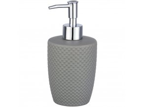 PUNTO Dávkovač na tekuté mýdlo nebo šampon, zdobený kontejner s čerpadlem - 380 ml, WENKO